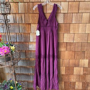 NWT altar'd state Plum Tiered Maxi Dress - Large